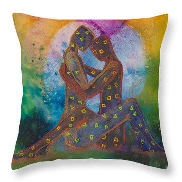 His Loves Embrace Divine Love Series No. 1007 Throw Pillow