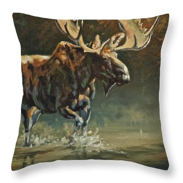 His Majesty Throw Pillow by Mia DeLode