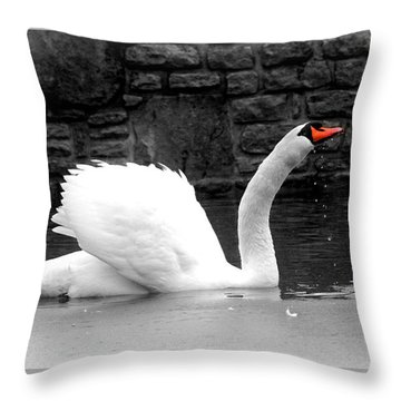 His Majesty On Ice Throw Pillow