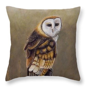 His Majesty Sits Throw Pillow