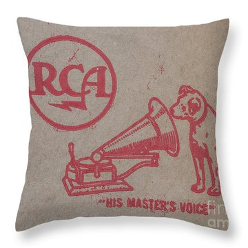 Throw Pillow featuring the photograph His Masters Voice Rca by Edward Fielding