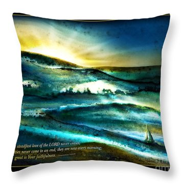 His Mercies Are New Every Morning -verse Throw Pillow