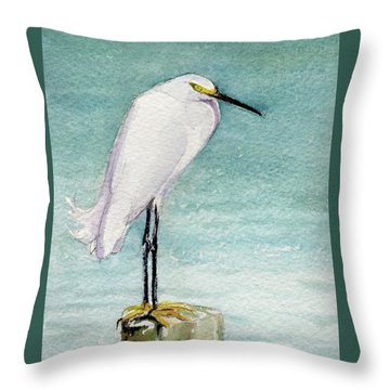Throw Pillow featuring the painting His Post by Kris Parins
