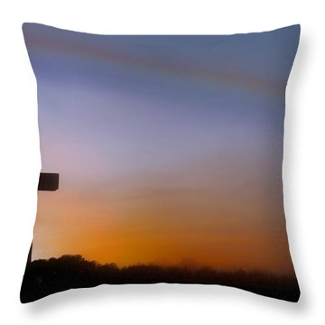 Throw Pillow featuring the photograph His Promise by Benanne Stiens