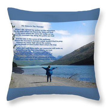 His Voice In The Thunder Throw Pillow