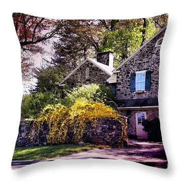 Throw Pillow featuring the photograph Historic 1889 Home by Polly Peacock