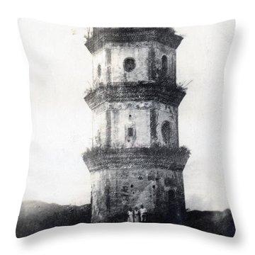 Historic Asian Tower Building Throw Pillow