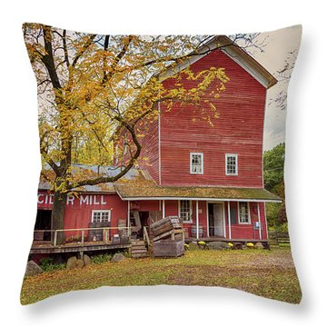 Historic Bowens Mills Throw Pillow