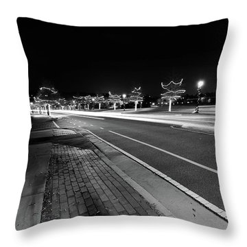 Historic Buford At Christmas Throw Pillow