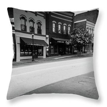Historic Buford Downtown Area Throw Pillow