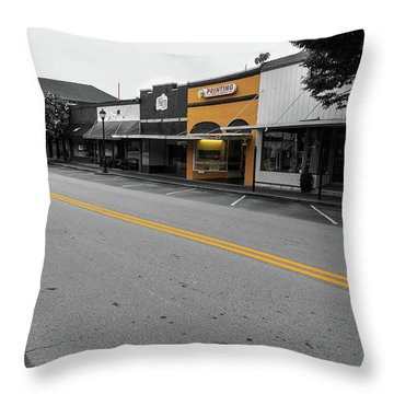 Historic Buford In Selective Color Throw Pillow