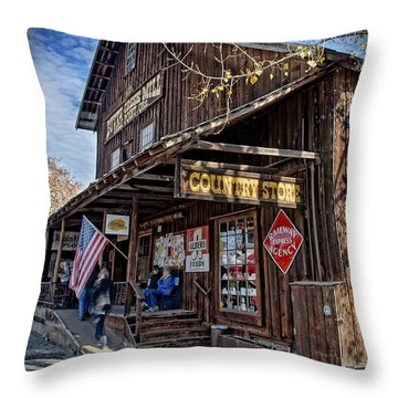 Historic Butte Creek Mill Throw Pillow