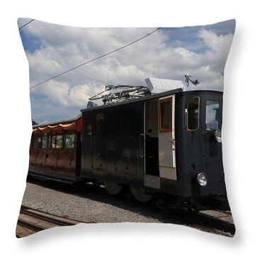 Historic Cogwheel Train  Throw Pillow by Ernst Dittmar