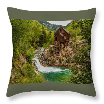 Historic Crystal River Mill  Throw Pillow