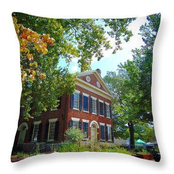 Historic Dahlonega Georgia Courthouse Throw Pillow
