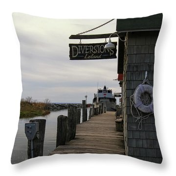 Throw Pillow featuring the photograph Historic Fishtown 5 by Heather Kenward
