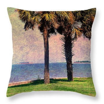 Historic Fort Sumter Charleston Sc Throw Pillow by Susanne Van Hulst