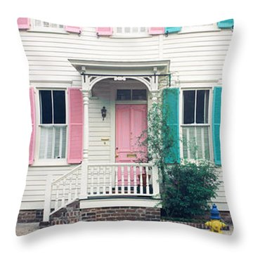 Historic Homes, Savannah, Georgia Throw Pillow