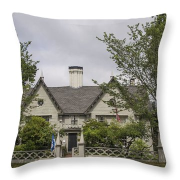 Historic House In Salem Throw Pillow