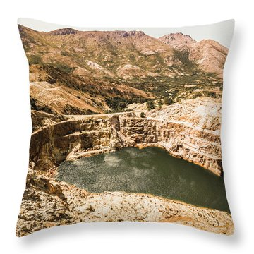 Historic Iron Ore Mine Throw Pillow