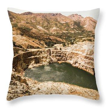 Historic Iron Ore Mine Throw Pillow