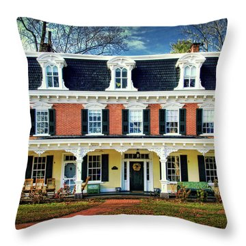 Historic Isaac Stover House  Throw Pillow