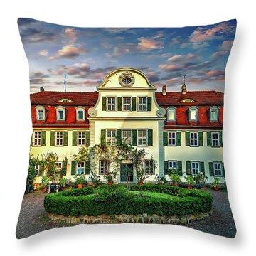 Historic Jestadt Castle Throw Pillow