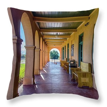 Historic Kelso Depot Throw Pillow