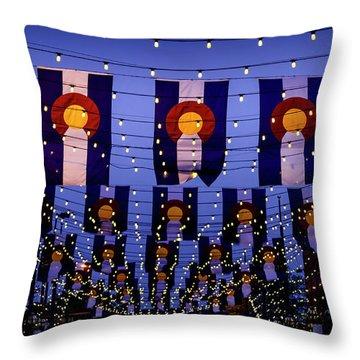 Historic Larimer Square Denver Throw Pillow