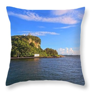 Throw Pillow featuring the photograph Historic Lighthouse On Chijin Island by Yali Shi
