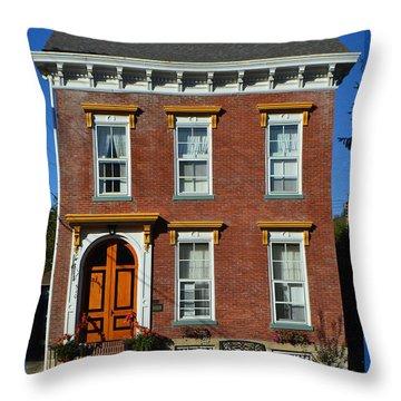 Historic Madison Row House Throw Pillow