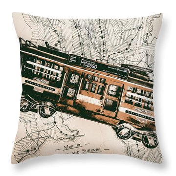 Suburbs Throw Pillows