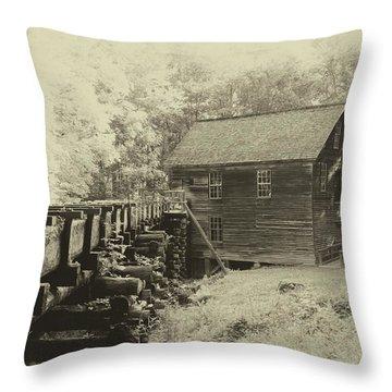 Historic Mingus Mill Throw Pillow