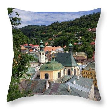 Historic Mining Town Banska Stiavnica, Slovakia Throw Pillow