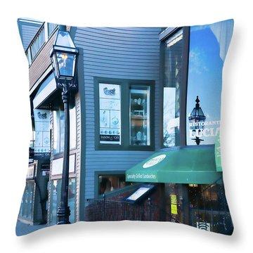 Historic Newport Buildings Throw Pillow by Nancy De Flon