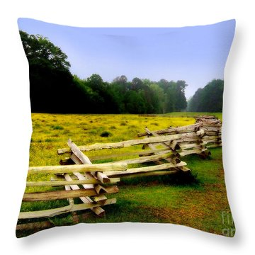 Throw Pillow featuring the photograph Historic Path Natchez Trace Parkway by T Lowry Wilson