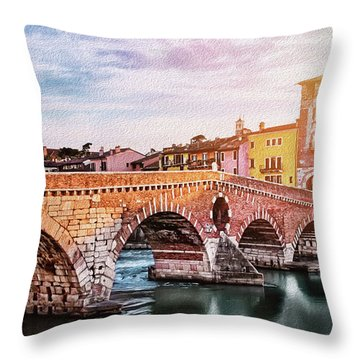 Northern Italy Throw Pillows