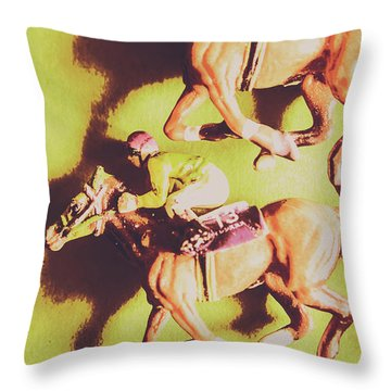 Historic Racing Competition Throw Pillow