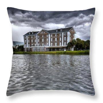 Historic Rice Mill Building Charleston Sc Throw Pillow by Dustin K Ryan