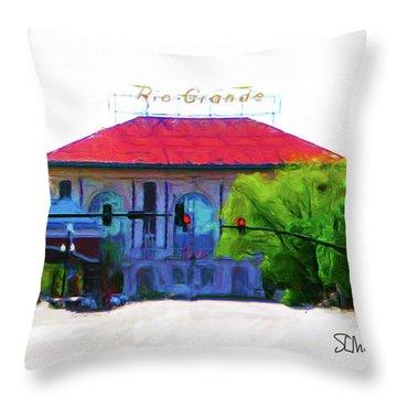 Historic Rio Grande Station Throw Pillow