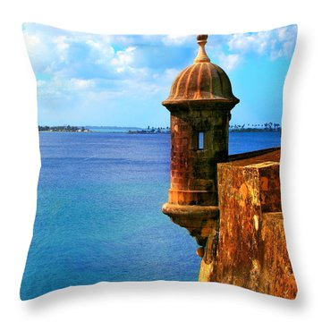 Historic San Juan Fort Throw Pillow