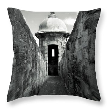 Historic San Juan Throw Pillow by Perry Webster