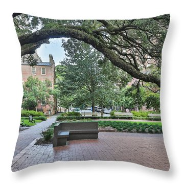 Historic Sqaure Throw Pillow