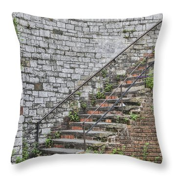 Historic Steps Throw Pillow