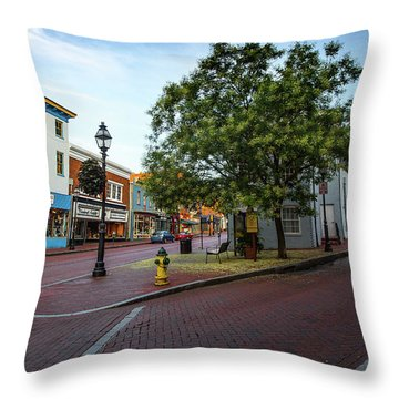 Historic Streets Throw Pillow