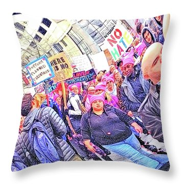 Historic Times Throw Pillow