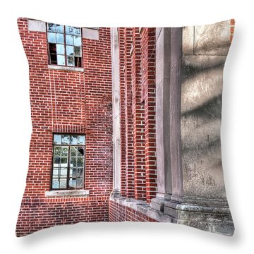 Historic Veteran's Hospital II Throw Pillow by Tamyra Ayles