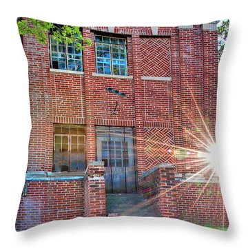 Historic Veteran's Hospital IIi Throw Pillow by Tamyra Ayles