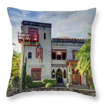 Historic Zorayda Castle Throw Pillow