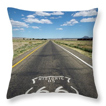 Historica Us Route 66 Arizona Throw Pillow